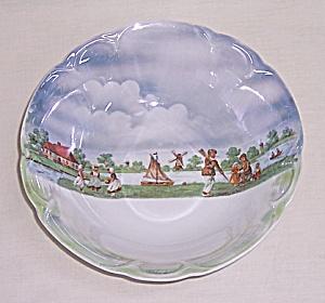 Vintage German Lusterware Bowl – Playing Children (Image1)