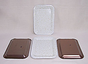 New Old Stock - Tip Trays - White & Gold