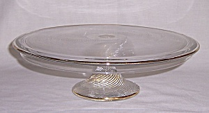 Depression Glass - Cake Stand-  Indiana Glass Co. � 1930�s (Image1)