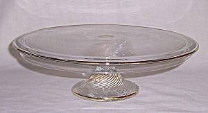 Depression Glass - Cake Stand-  Indiana Glass Co. – 1930's (Image1)