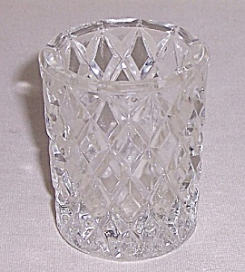 Diamond Pattern - Glass Toothpick Holder