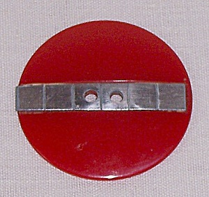 Large Red Bakelite Button (Image1)