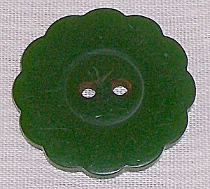Green Bakelite Button (Image1)