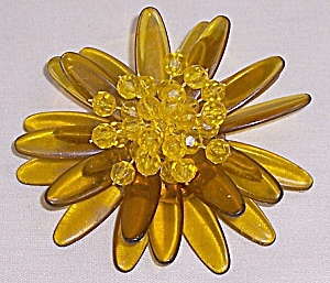 Apple Juice Lucite Brooch	 (Image1)