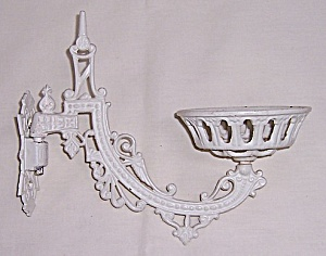 Victorian Lamp Bracket Arm & Mount Plate - Eastlake Style Sconce - Cast Iron (Image1)