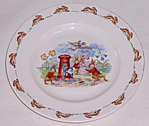 "Royal Doulton Bunnykins Plate, Vernon, ""Posting Letters"" (Image1)"