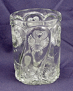 Pattern Glass – Tumbler / Spooner – Paneled Flower (Image1)