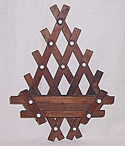 Wood & Porcelain -  Comb / Brush Holder	 (Image1)