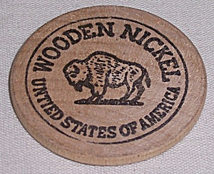 Advertising - Wooden Nickel - Buffalo - A