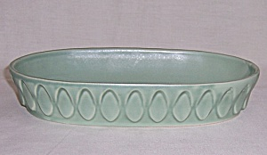 Red Wing - Art Pottery - Low Bowl # 835 - Oblong Planter