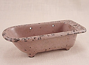 Kilgore, Cast Iron, Dollhouse Furniture, Mauve Tub