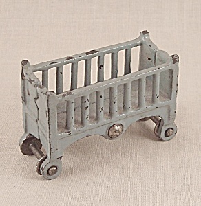 Kilgore - Cast Iron - Dollhouse Furniture - Baby Crib / Cradle- Bassinet