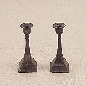Doll House Furniture - Candle Pair � Metal Candlesticks - A (Image1)