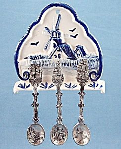 Japan – Delft Look Spoon Holder & Spoons	 (Image1)