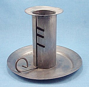 Tin Ware - Adjustable Metal Candle Holder	 (Image1)