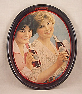Advertising - Coke  / Coca-Cola / Oval Tray (Image1)