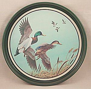 Avon Tray – Mallards In Flight (Image1)
