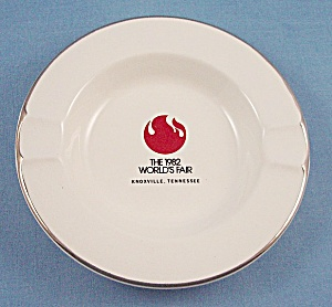 1982 Word's Fair Porcelain Ashtray – Knoxville, Tennessee (Image1)