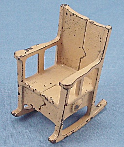 Kilgore, Cast Iron, Dollhouse Furniture, Rocking Chair - B,No. T-2 (Image1)