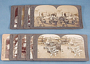 9 Antique Stereoview Photo Cards, Keystone View Company (Image1)
