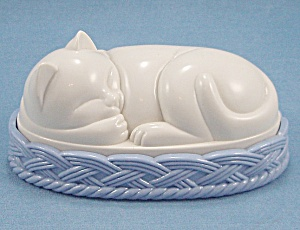 Figural Cat / Sleeping Cat - Lint / Clothes Brush