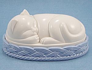 Figural Cat / Sleeping Cat – Lint / Clothes Brush (Image1)
