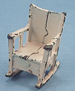 Kilgore, Cast Iron, Dollhouse Furniture,  Rocker/ Rocking Chair (Image1)