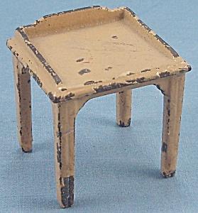 Kilgore, Cast Iron, Dollhouse Furniture, Yellow Desk / Telephone Table (Image1)