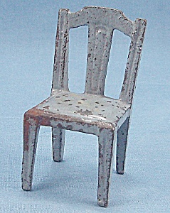 Kilgore, Cast Iron, Dollhouse Furniture, Side Chair, Blue  # 7 (Image1)