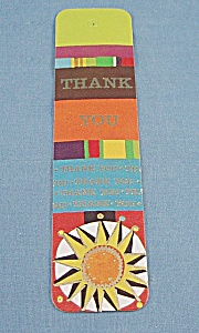 Vintage -1972 Bookmark – Thank You – Antioch Bookplate Co (Image1)