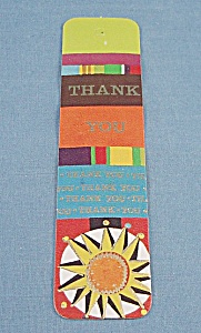 Vintage -1972 Bookmark  -Thank You – Antioch Bookplate Co. – Church Stamp (Image1)