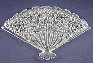 Jersey Swirl / Glass -Fan Shaped Dresser Tray-Daisy & Button (Image1)