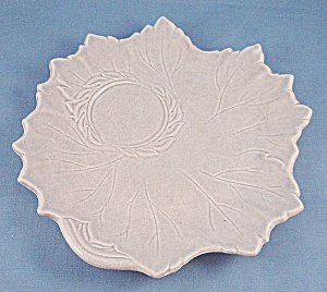 Woodfield � Stubenville � Snack Plate � Leaf Shape � Dove Gray-1941 (Image1)
