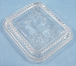 Replacement Lid - Refrigerator Dish - Fruit On Lid, Pattern - 4-1/2 X 5