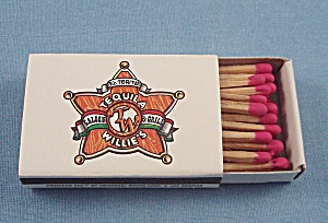Match Box � Tequila Willie�s Saloon & Grill � Dayton, Ohio (Image1)