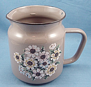 Decorated Graniteware Measure Pitcher