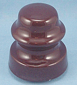 Vintage -  Brown Crock -   Insulator (Image1)