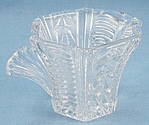 Glass Creamer – Wing Handle – Art Deco (Image1)