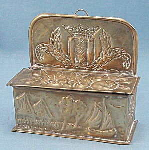 Embossed Brass Match Holder / Box (Image1)