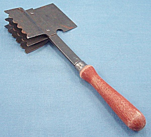 Red Handled Meat Clever/ Tenderizer - U.s.a.