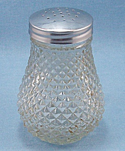 Crystal, Diamond Point, Glass Sugar Shaker (Image1)