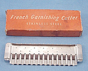 French Garnishing Cutter – Stainless Steel	 (Image1)