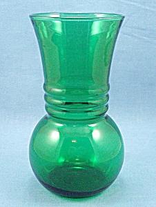 Anchor Hocking – Forest Green –Vase - C (Image1)