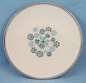 Flintridge China Co. - Shadows - Blue Floral - Bread & Butter Plate