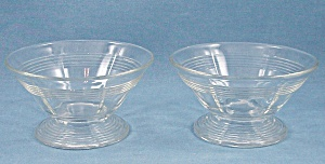 Pair Pattern Glass Sherbets – Rings Pattern (Image1)