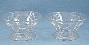 Pair Pattern Glass Sherbets – Rings Pattern (Image1)