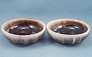 Brown Drip - Small Dessert/ Fruit Bowls - Two