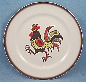 Metlox - Poppy Trail - Red Rooster - Dinner Plate - B