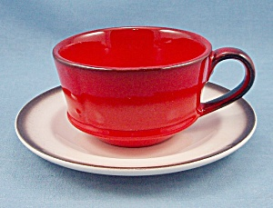 Metlox - Poppy Trail – Red Rooster – Cup & Saucer (Image1)