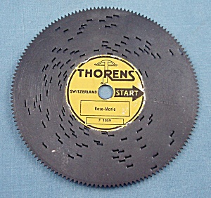 Vintage Thorens 4 �� Music Box Disc, �Rose-Marie� (Image1)